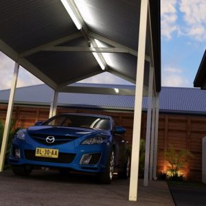 Photo Of A Single Carport With A Car Under
