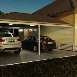 Photo Of A Carport With Two Cars Under