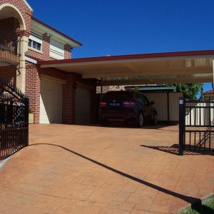 Photo Of A Carport With A Car Under