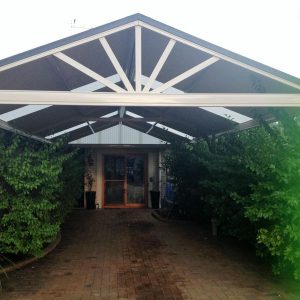 Carport Design With Greenery