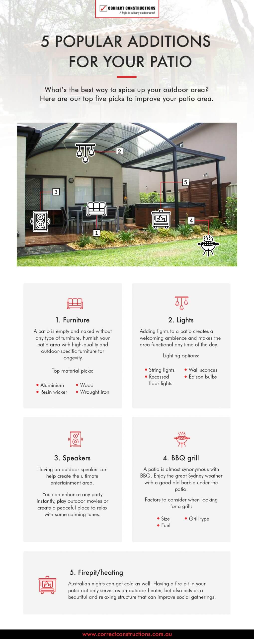 5 additions for your patio infographic