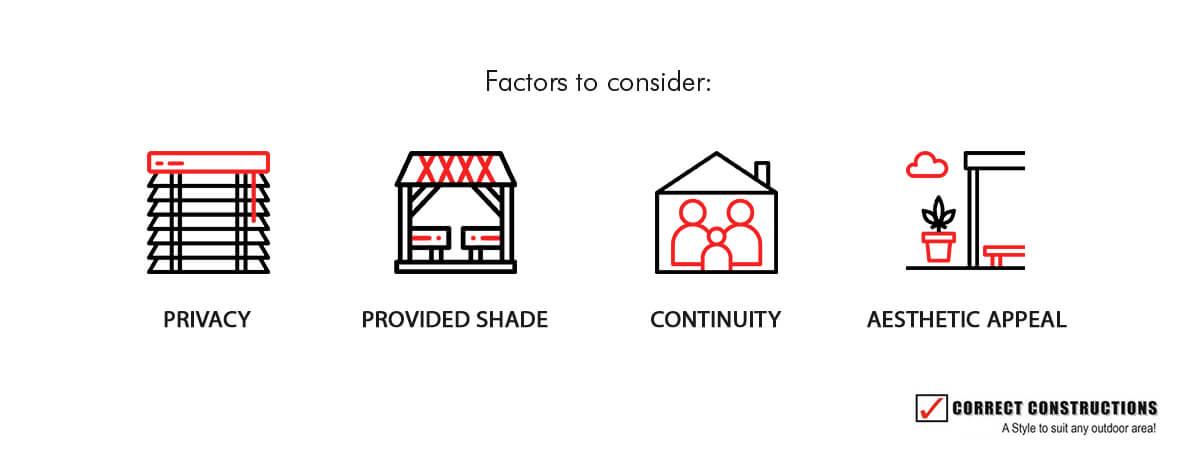 Factors to consider for pergola materials